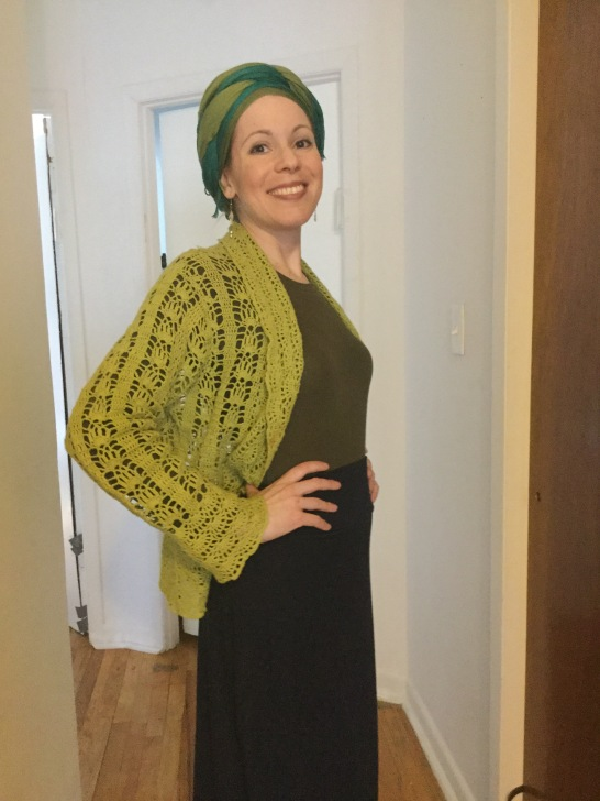 Cardigan front view