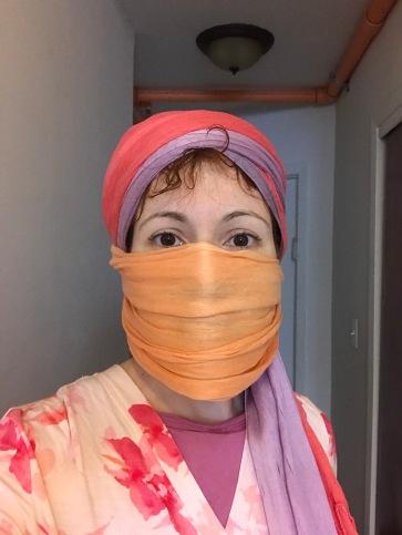 Corona- scarf as mask