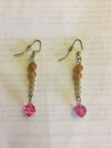 For Our Kedoshim earrings- pink