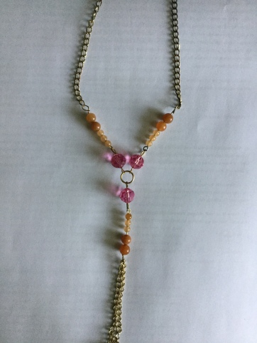 For Our Kedoshim necklace peach-pink